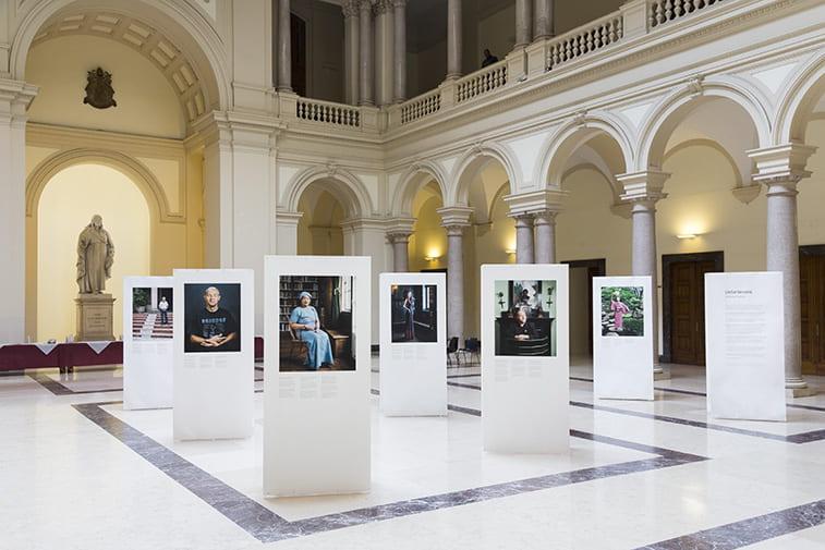Photo of the Unbelievers exhibit in Rome