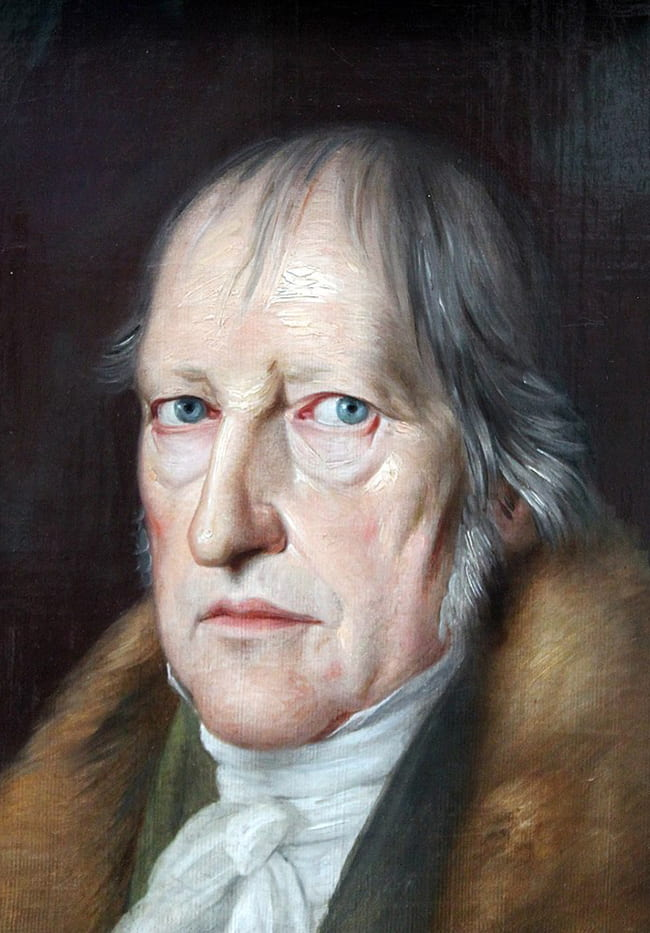 Portrait painting of Hegel