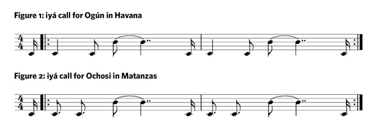 two slightly different lines of music