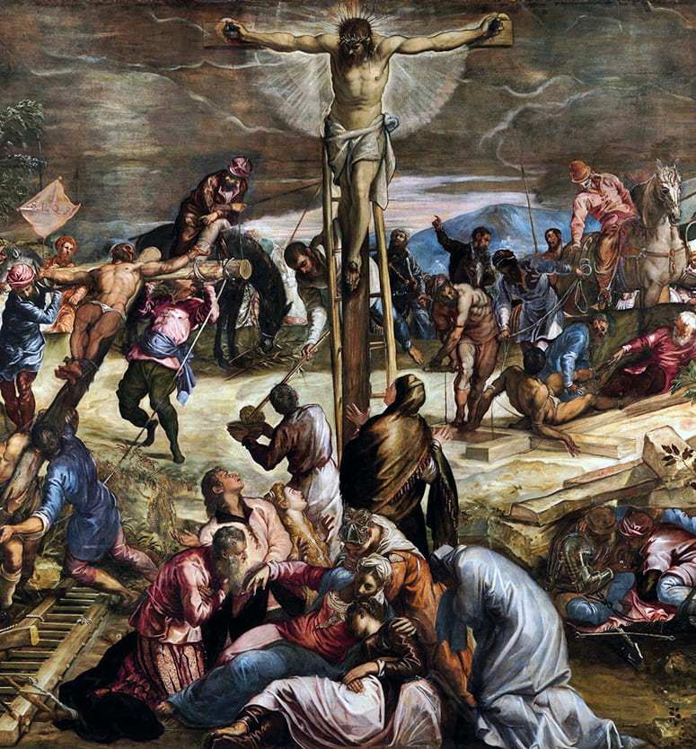 Jacopo Tintoretto painting of the Crucifixion (1565)