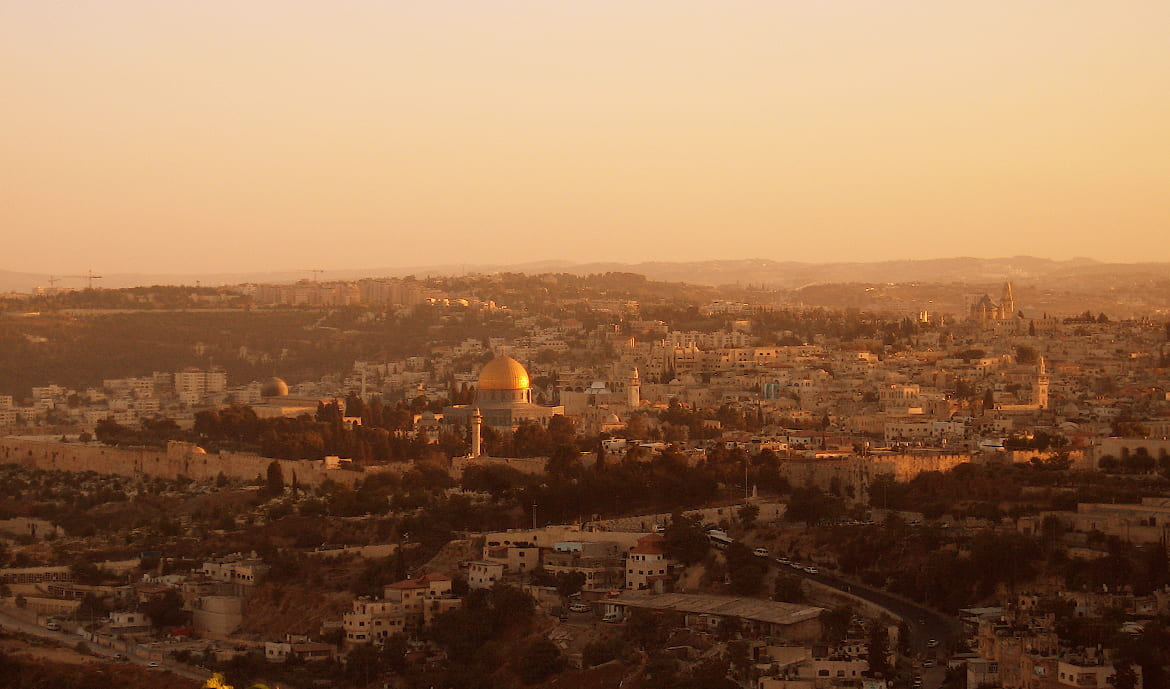 Photo looking out at Jerusalem