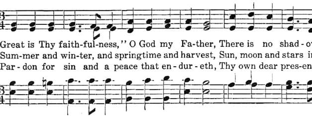 "Poets on Hymns: ""Great Is Thy Faithfulness"""