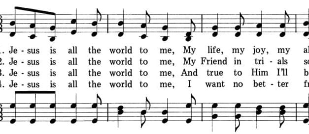 "Poets on Hymns: ""Jesus Is All the World to Me"""