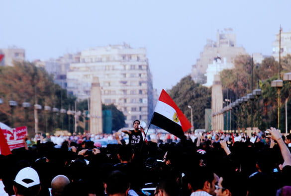 Photo of demonstrations in Tahrir