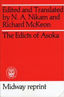 Book cover of The Edicts of Asoka