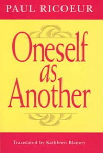 Book cover of Oneself as Another
