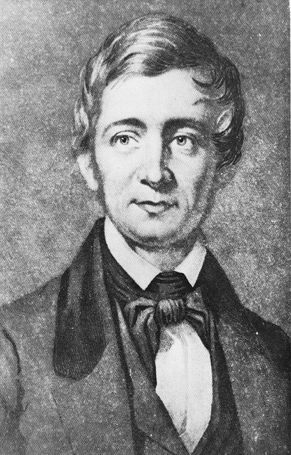 Drawing of Ralph Waldo Emerson
