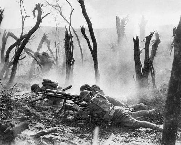 WWI battlefield photo