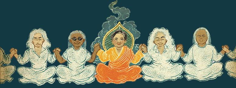 Illustration of Bonnie Duran as a Bodhisattva