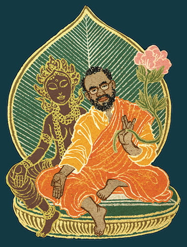Illustration of Rod Owens as a Bodhisattva