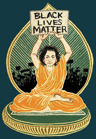 Illustration of Christopher Raiche as a Bodhisattva