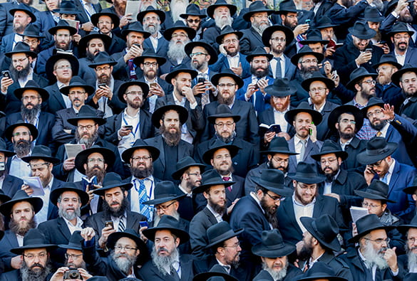 Group photo at a gathering of Chabad-Lubavitch Rabbis