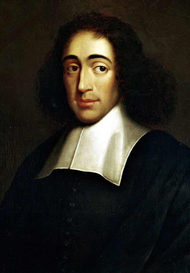 Portrait painting of Spinoza