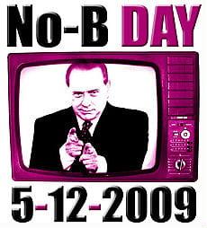 Berlusconi dentro schermo televisivo