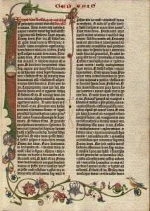 pagina di Bibbia antica