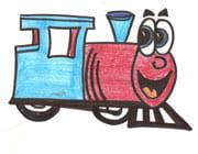 disegno di trenino colorato