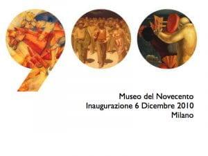 Manifesto dell'inaugurazione del Museo del 900 a Milano