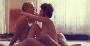 Uomo e donna nudi in Ultimo tango.