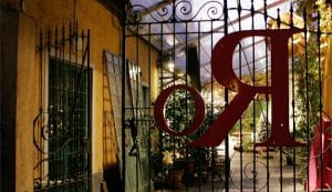 Cancello di una casa antica