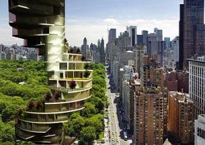 Grattacielo verde a Barcellona