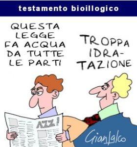 Vignetta umoristica sull'eutanasia
