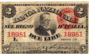 Banconota del regno d'Italia