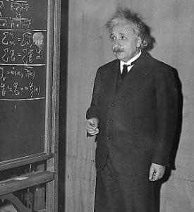 Einstein alla lavagna