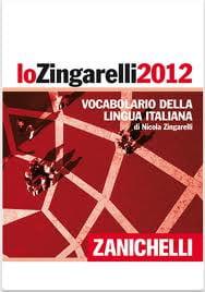 Copertina del vocabolario Zingarelli 2012