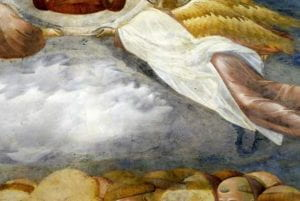 Dettaglio di un affresco di Giotto