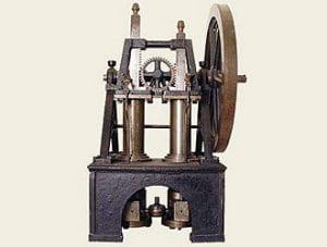 Una macchina da lavoro antica italiana