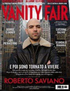 Saviano sulla copertina di Vanity Fair