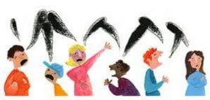 Vignetta di bambini urlanti