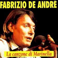 Copertina del disco di Fabrizio de André, volto di uomo giovane