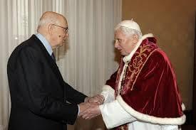 Papa Joseph Ratzinger e Napolitano