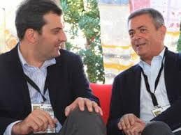Mario Calabresi, nuovo Direttore di Repubblica, (sinistra) e Ezio Mauro Direttore dal 1996 a oggi.