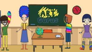 Vignetta di maestra in una classe multietnica.