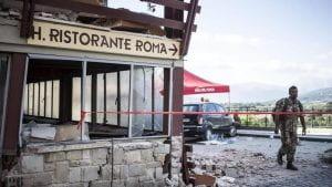 Ristorante Roma distrutto dal terremoto.
