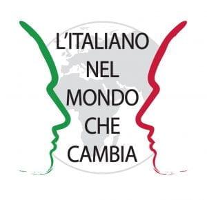 Schizzo di due volti di profilo, il mondo e i colori italiani.
