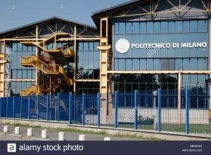 Ingresso di un edificio del Politecnico di Milano.