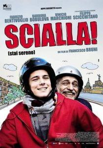 Locandina di film con due uomini in moto