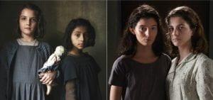 Lila e Lenu protagoniste della serie L'amica geniale, da bambine e da ragazze