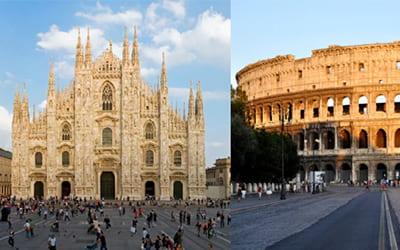 Milano-Roma: numeri di due città a confronto