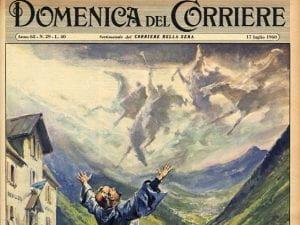 Copertina della Domenica del Corriere del 14 luglio 1960.