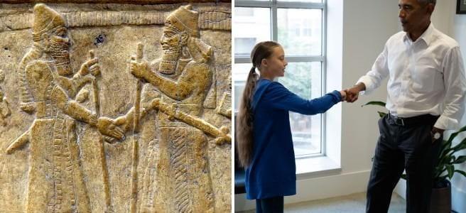 La stretta di mano, dagli Assiri a noi