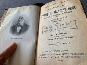 Copertina del libro di cucina di Pellegrino Artusi