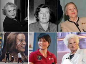 Immagini di sei donne italiane celebri