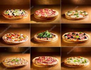 Immagini di differenti tipi di pizza