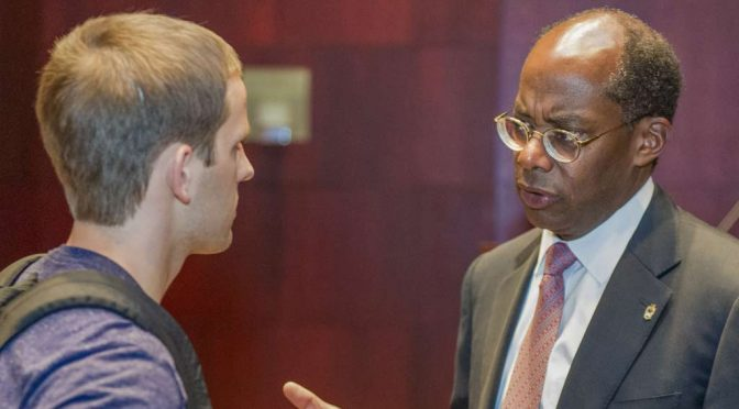 TIAA-CREF CEO Roger Ferguson Answers Walton Faculty, Student Questions