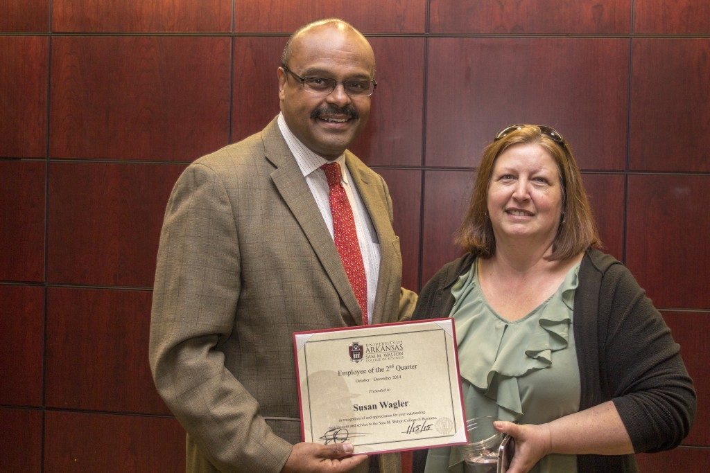 Wagler Named Walton College Employee of the Quarter