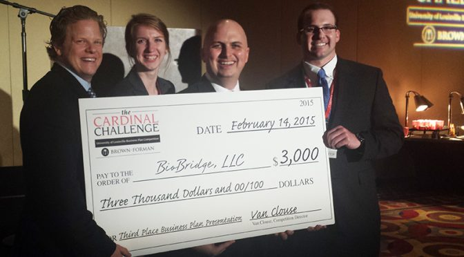 BioBridge LLC Takes Third Place at Brown-Forman Cardinal Challenge